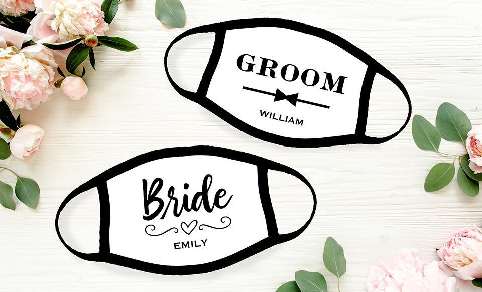 Personalized Wedding Party Face Coverings