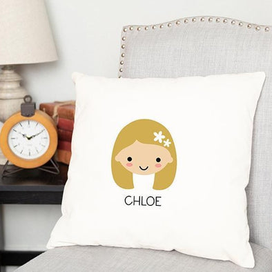 Personalized Children's Character Throw Pillow Covers -  - Qualtry