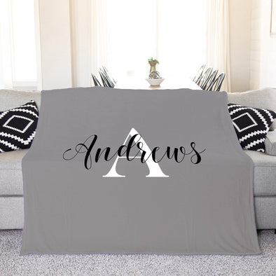 Personalized Plush Throw Blanket - Andrews Design - Small - Qualtry