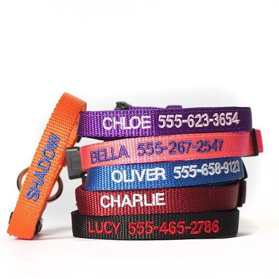 Personalized Cat Collars - XS / Black - Qualtry