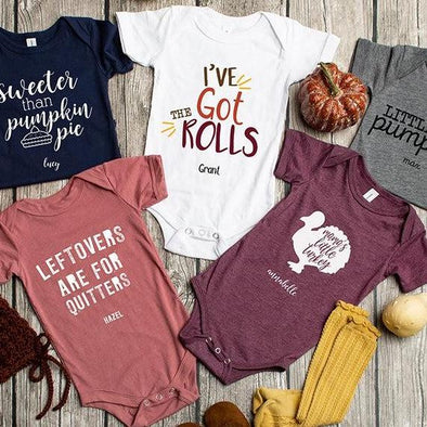 Personalized Thanksgiving Infant and Toddler One-Piece Collection -  - Qualtry