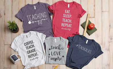 #Teacher Life T-Shirt Collection (Unisex sizing) -  - Qualtry