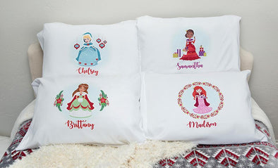 Personalized Christmas Princess Pillowcases -  - Qualtry