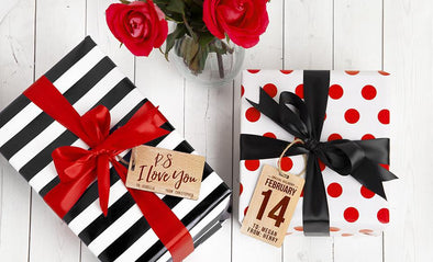 Personalized Wooden Valentine's Day Gift Tags -  - Qualtry