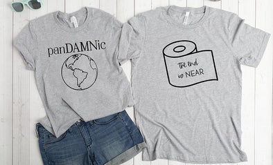 Personalized Social Distancing Unisex T-Shirts -  - Qualtry