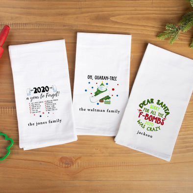 Personalized Snarky 2020 Tea Towels -  - Qualtry