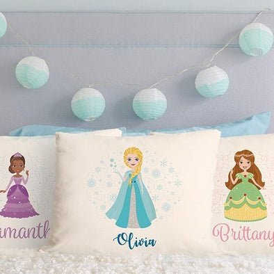 Personalized Princess Throw Pillow Covers -  - Qualtry