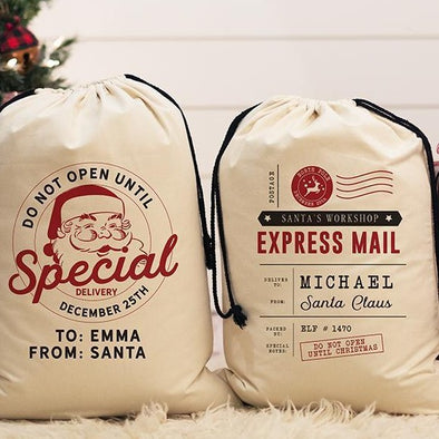 Personalized Jumbo Santa Gift Bags – Santa's Workshop Collection -  - Qualtry