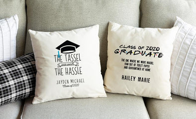 Personalized Graduation 2020 Throw Pillow Covers -  - Qualtry