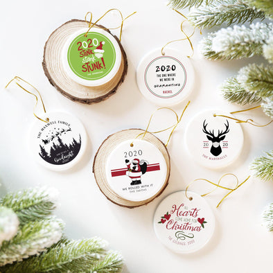 Personalized 2020 Ceramic Christmas Ornaments -  - Qualtry