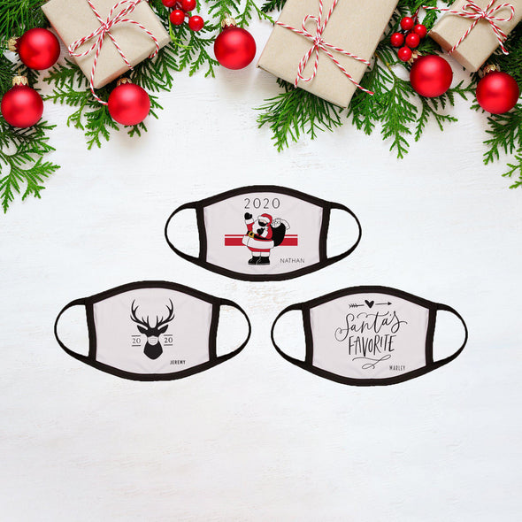 Personalized 2020 Christmas Face Coverings -  - JDS