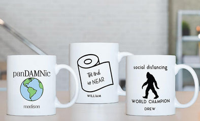 Personalized Social Distancing Mugs -  - Qualtry