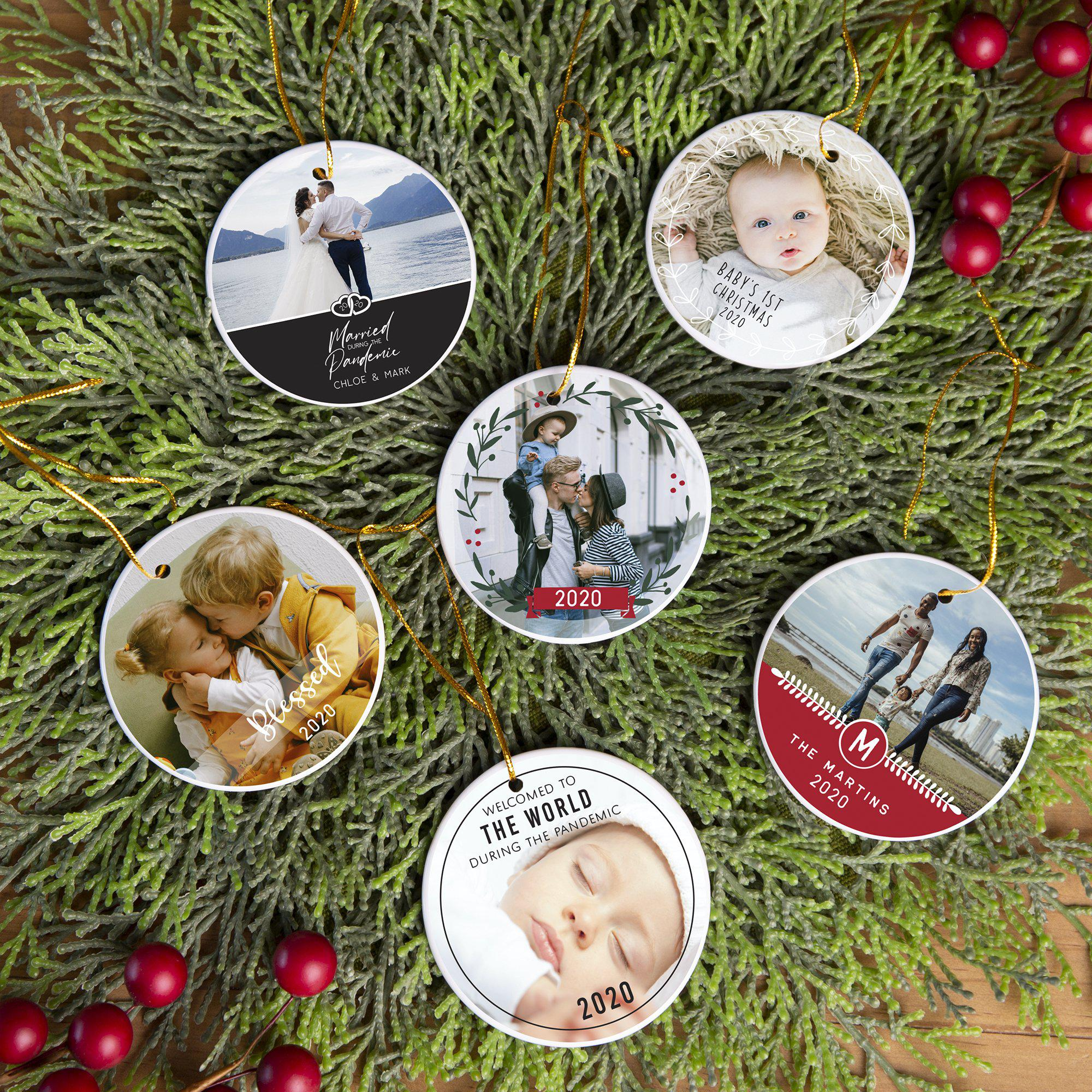 Personalized Photo Ceramic Christmas Ornaments