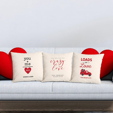 Personalized Loads of Love Throw Pillow Covers -  - Qualtry