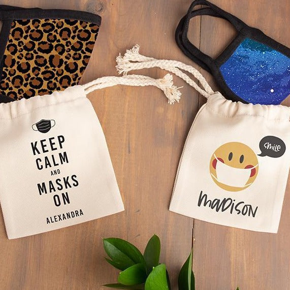 Personalized Face Mask Bags