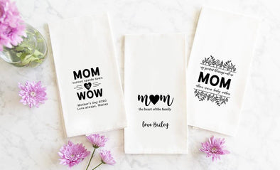 Personalized Tea Towels for Mom -  - Qualtry