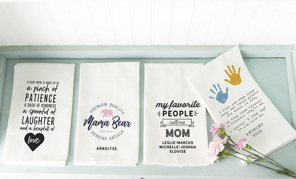 Personalized I Love You Mom Tea Towels -  - Qualtry