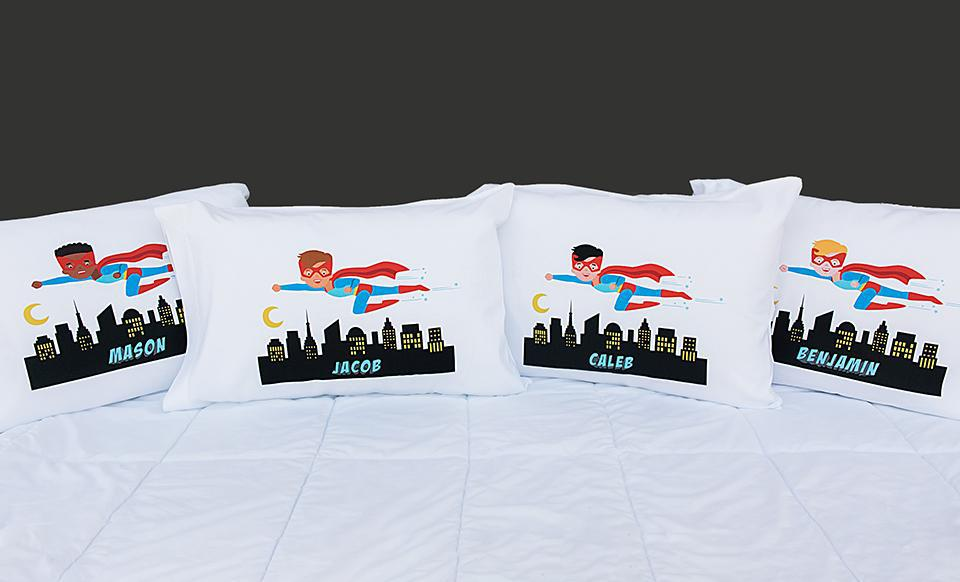 Personalized Boy Superhero Pillowcases