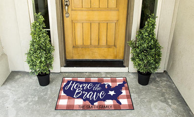 Personalized Patriotic Doormats -  - Qualtry