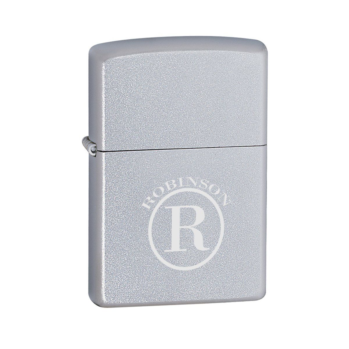 Personalized-Zippo-Satin-Chrome-Lighter
