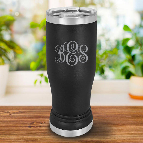 Personalized 20oz. Black Insulated Pilsner - IMF - JDS