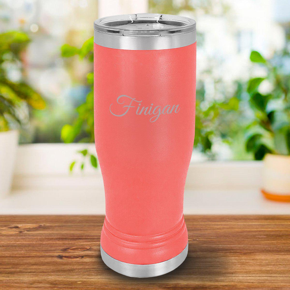 Personalized 20oz. Coral Insulated Pilsner
