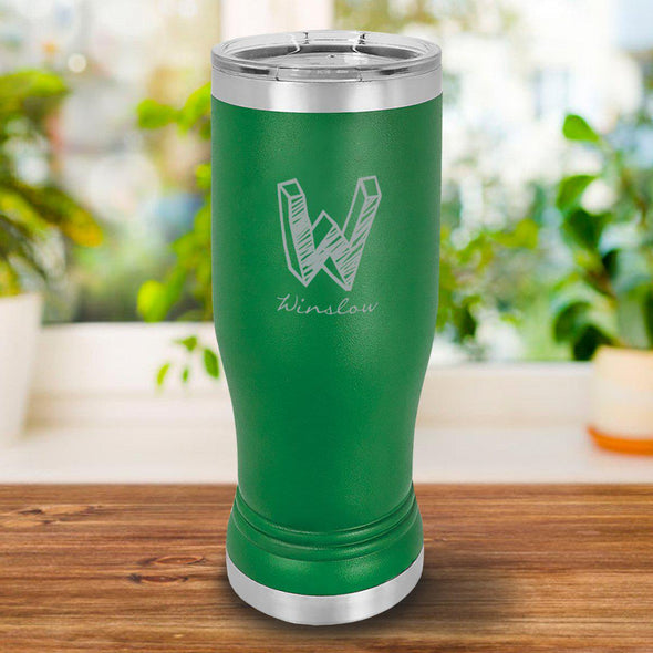 Personalized 20oz. Green Insulated Pilsner - Kate - JDS