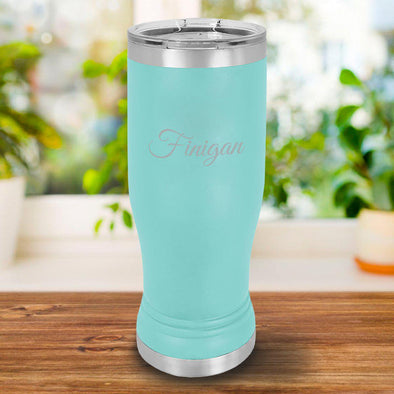 Personalized 20oz. Mint Insulated Pilsner - Script - JDS