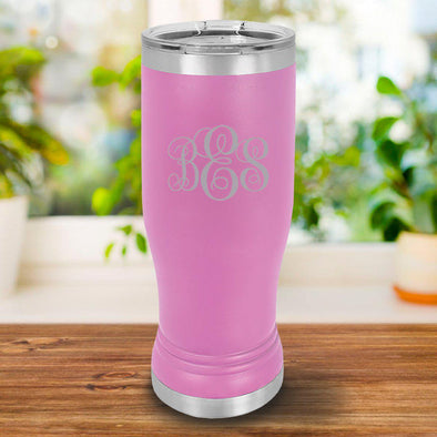 Personalized 20oz. Pink Insulated Pilsner - IMF - JDS