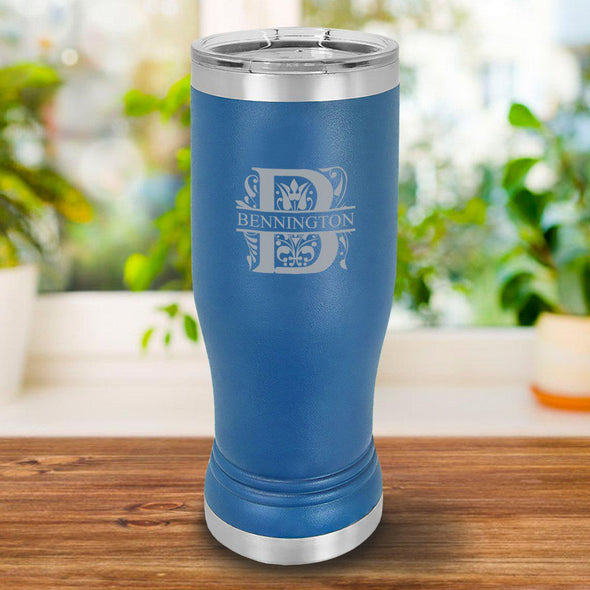Personalized 20 oz. Royal Blue Pilsner - Filigree - JDS