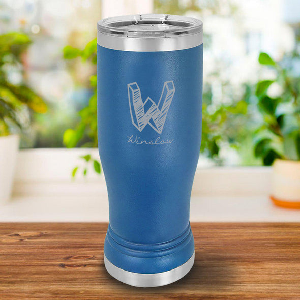 Personalized 20oz. Royal Blue Insulated Pilsner - Kate - JDS