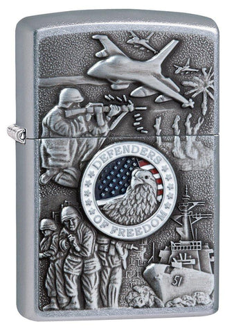 Personalized Joined Forces Zippo Lighter -  - Zippo Lighters & Gifts - AGiftPersonalized