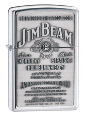 Personalized Jim Bean High Polish Chrome Lighter