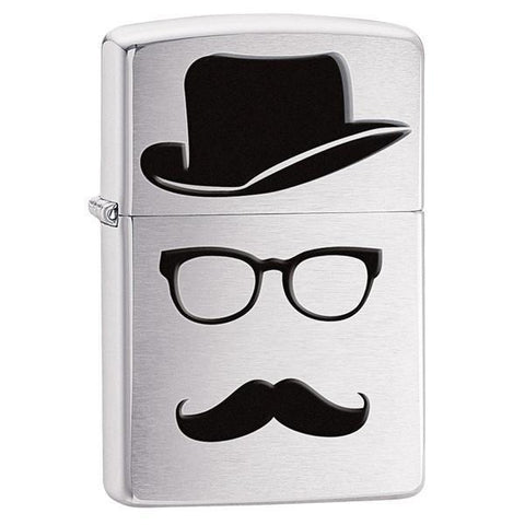 Personalized Zippo Mustache and Hat Lighter -  - Zippo Lighters & Gifts - AGiftPersonalized