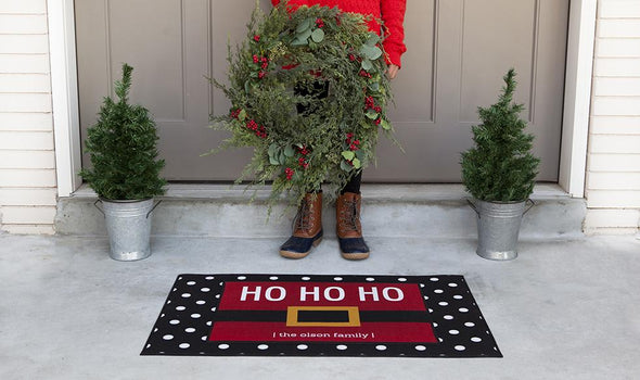Personalized Layered Christmas Doormat Sets -  - Qualtry