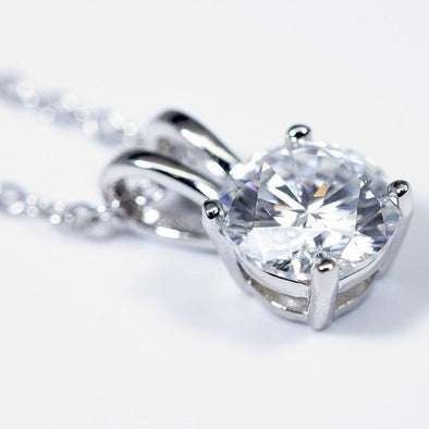 Moissanite Pendant (1 Carat Total Weight) -  - Qualtry