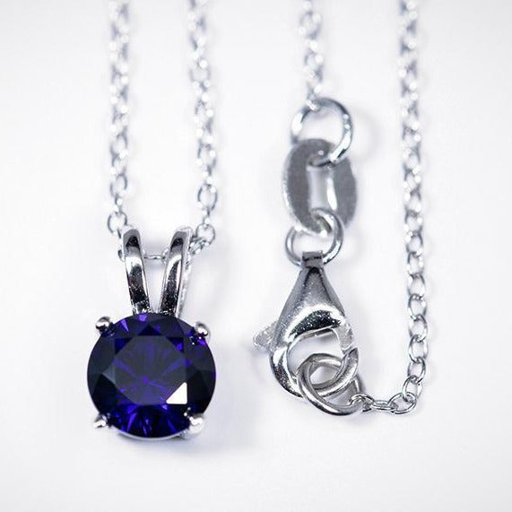 Sapphire Pendant (1.2 Carat Total Weight) -  - Qualtry