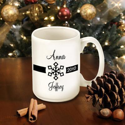Personalized Our First Christmas Coffee Mug - Style2 - JDS