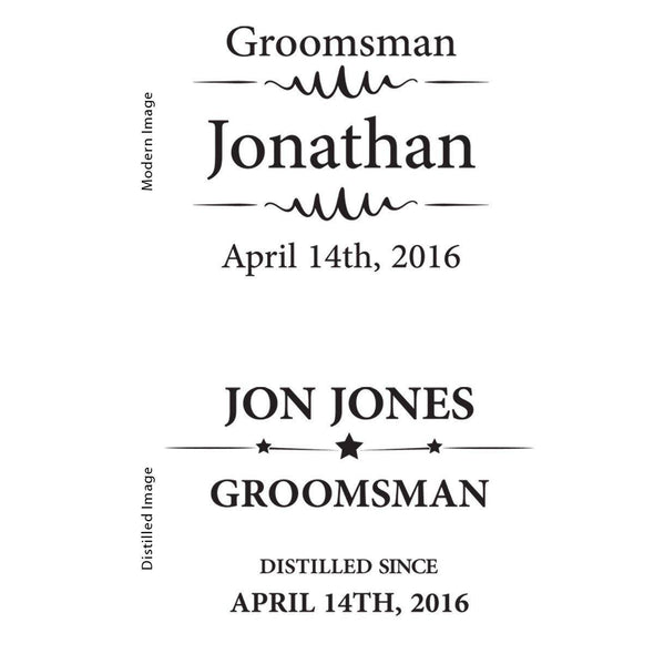 Groomsmen Black Matte Flask -  - JDS