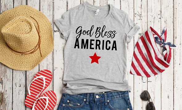 God Bless America T-Shirt Collection -  - Qualtry