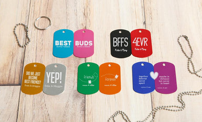 Personalized Dog Tags – Friendship - Black - Qualtry