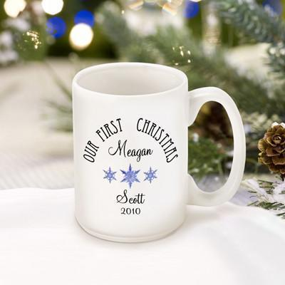 Personalized Our First Christmas Coffee Mug - Style3 - JDS