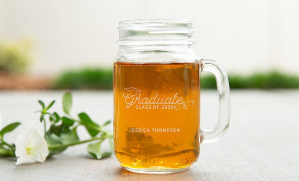 Personalized Graduation 2020 Mason Jar Mugs -  - Qualtry