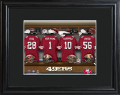 Personalized NFL Locker Sign w/Matted Frame - All Teams