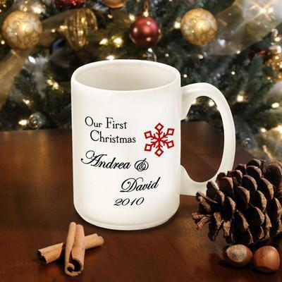 Personalized Our First Christmas Coffee Mug - Style4 - JDS