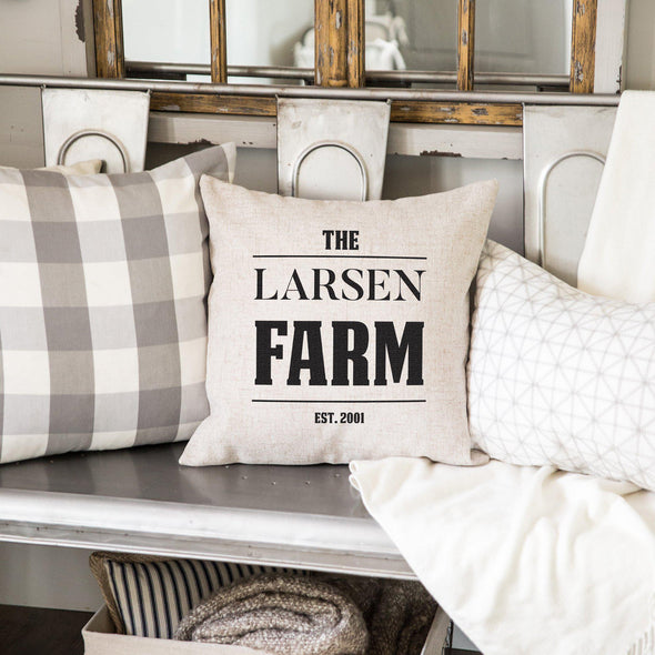 Personalized Throw Pillow Covers (Farmhouse) -  - Qualtry