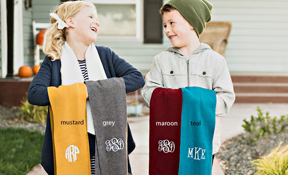 Personalized Children's Knit Scarves -  - Qualtry