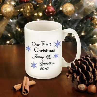 Personalized Our First Christmas Coffee Mug - Style6 - JDS