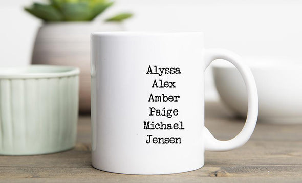 Personalized Family Name Mugs - 15 oz / White - Qualtry