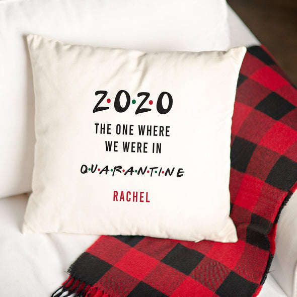 Personalized Quarantine Throw Pillow Covers -  - Qualtry